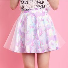 kawaii fashion glitter tutu tricolor