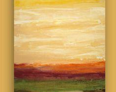 "Resumen de arte, pintura, pintura acrílica sobre lienzo de Galería titulada: 24x36x1.5 de musgo terroso ""por Ora Birenbaum"