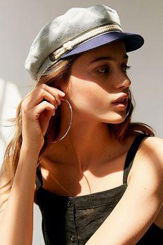 45b14e79476 Urban Outfitters Brixton Denim Fiddler Hat - S