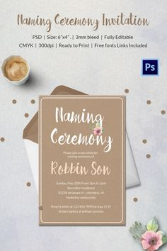 The 7 Best Invitations Baby Naming Ceremony Images On Pinterest