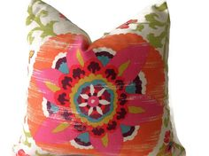 Pillows, Out Door Pillows  Throw  Pillows, Decorative  Pillow Cover, Designer Fabric On Both Sides  indoor /outdoor invisible Zipper Closure