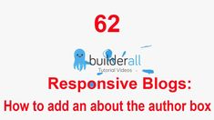 Builderall Tutorial 62 - Responsive Blogs: How to add an about the author box.. Marketing Tools, Digital Marketing, Make Money Online, How To Make Money, Online Business, Platform, Author, Tutorials, Ads