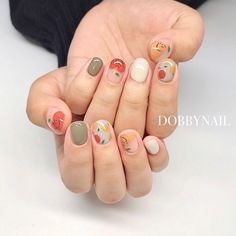 Cute Nail Art, Beautiful Nail Art, Cute Nails, Pretty Nails, Korean Nail Art, Korean Nails, Minimalist Nails, Diy Acrylic Nails, Diy Nails