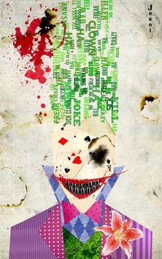 love this artists interpretation of the joker.