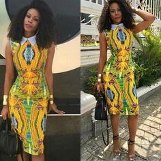2018 Ankara Styles Gown : Recent Ankara Short Gown Styles, Here are collection of latest 2018 Ankara Styles Gown that you will love to rock. You can create many various looks with it. African Attire, African Wear, African Women, African Dress, African Style, Ankara Short Gown Styles, Short Gowns, Dress Styles, African Inspired Fashion
