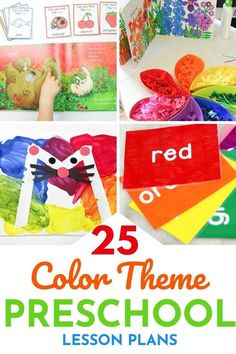 Use these 20+ color activities for preschool lesson plans from Life Over C's to help your kids master color recognition! They're tons of fun and easy to do! Grab this teaching resource. Preschool Colors, Teaching Colors, Preschool Themes, Preschool Crafts, Preschool Learning Activities, Color Activities, Teaching Resources, Preschool Lesson Plans, Business For Kids