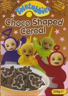 Teletubbies Choco Shaped Cereal ©2001 Health Care Products Products Ltd. UK