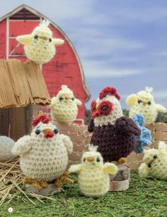 Crochet a Farm: 19 Cute-as-Can-Be Barnyard Creations - Rooster, Chicken, & Chicks Amigurumi Pattern