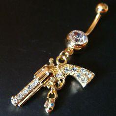 14g gun bullet belly button navel rings ring bar body piercing jewelry, cute!