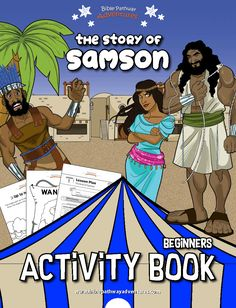 Samson bible lesson for kids | Samson bible craft | Instant download! Bible Activities For Kids, Bible Stories For Kids, Bible For Kids, Bible Resources, Bible Lessons For Kids, Math Activities, Proverbs For Kids, Bible Proverbs, Samson Bible