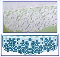 Crochet Lace Edging, Crochet Motifs, Crochet Borders, Thread Crochet, Crochet Doilies, Crochet Flowers, Crochet Stitches, Knit Crochet, Crochet Patterns