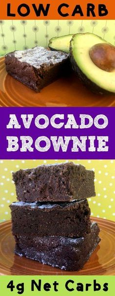 Avocado brownies are a delightful if somewhat odd dessert. The avocado replaces oil in the recipe. The taste is very subtle though. You'll only notice if you try really hard. These brownies are Atkins, Banting, THM, LCHF, Keto, Sugar Free and Gluten Free. It's also super delicious. #Lowcarb #lowcarbdiet #keto #ketogenic #LCHF #diet #best #glutenfree #sugarfree #recipe #healthy