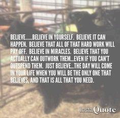 Gotta keep believin...