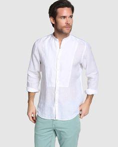 Camisa de hombre Emidio Tucci custom lisa blanca Indian Men Fashion, Mens Fashion Wear, Mens Shirt Pattern, Design Kaos, African Shirts, Camisa Polo, Outfit Grid, Kurta Designs, Yoga Fashion
