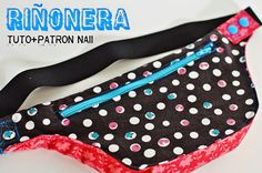 Riñonera, free pattern and tutorial Diy Coin Purse, Hip Purse, Hip Bag, Fanny Pack Pattern, Pouch Pattern, Free Pattern, Diy Bags Purses, Bag Patterns To Sew, Fabric Bags