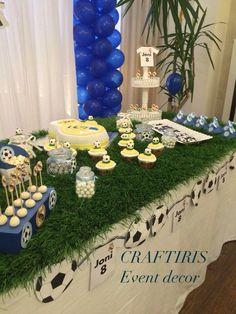 Organized by Craftiris. Soccer Birthday Parties, Sports Birthday, Soccer Party, 8th Birthday, Birthday Party Themes, Soccer Baby Showers, Soccer Banquet, Real Madrid, Milan