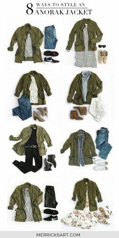 8 Olive Green Jacket Outfits My favorite layer for early fall is a lightweight army jacket. Check out these olive green jacket outfit ideas that are great for all occasions. Fall Fashion Trends, Autumn Fashion, Trending Fashion, Fall Trends, Spring Fashion, Mode Outfits, Casual Outfits, Olive Outfits, Chambray Shirt Outfits