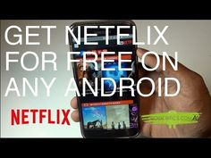 How To Get/Watch Netflix For Free On Any Android No Root Needed - YouTube Get Netflix, Netflix Free, Watch Netflix, Free Android, Apple Watch, Youtube, Facebook, Tv, Twitter