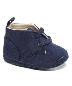 Look what I found on #zulily! Xeyes Navy Faux Suede Crib Shoes by Xeyes #zulilyfinds