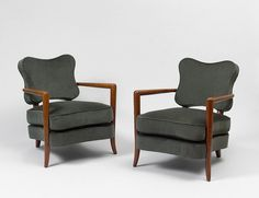 "Jean Royère, Pair of ""trefle"" lounge  armchairs (ca. 1948)"