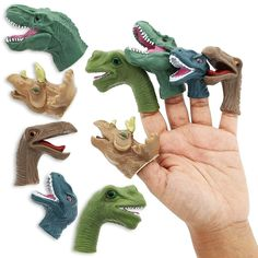 Shop for Juvale Finger Dinosaur Puppets Toys For Kids Children, 5 Assorted Design. Get free delivery On EVERYTHING* Overstock - Your Online Toys & Hobbies Store! Dinosaur Puppet, Dinosaur Head, Dinosaur Stuffed Animal, Dinosaur Toys For Boys, Girl Dinosaur, Dinosaur Gifts, Cool Toys For Boys, Best Kids Toys, Dinosaur Birthday Party