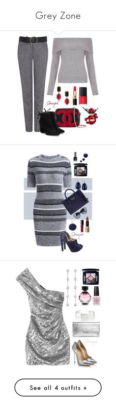 """""""Grey Zone"""" by gemique ❤ liked on Polyvore featuring Pink Tartan, New Look, 1st & Gorgeous by Carolee, Bobbi Brown Cosmetics, Marc Jacobs, NARS Cosmetics, Chanel, Miu Miu, Diane Von Furstenberg and 2028"""