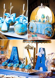 OMG - the dessert table!!!!  Modern & Magical Cinderella Party {Movie Inspired!} #merienda #cumpleaños