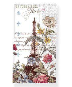 'La Tour Eiffel' Paper Towel - Set of 32