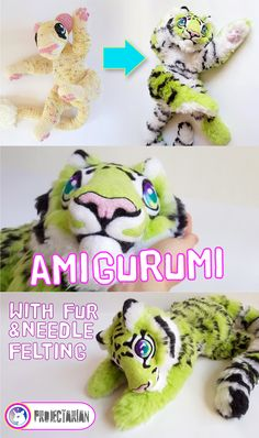 Turn any amigurumi into a fully-furred, plushy beast using only yarn! You'll also learn how you can use the same yarn to add needle-felted details onto your critters, and open up a whole new world of possibilities for your amigurumi projects! By Projectarian.