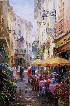 Provencal Backstreet - Roquebrunne by Barbara Jaskiewicz