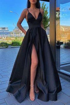 Pretty Prom Dresses, Prom Dresses For Teens, V Neck Prom Dresses, Black Prom Dresses, Grad Dresses, Formal Evening Dresses, Ball Dresses, Elegant Dresses, Homecoming Dresses
