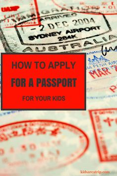 How to Apply for a Passport for Your Kids in the U.-Kids Are A Trip Here is a simplified version of the process to prepare you for the passport agency. Travel With Kids, Family Travel, Passport Agency, Travel Usa, Travel Tips, Destination Beauty, Passports For Kids, Passport Information, Family Destinations
