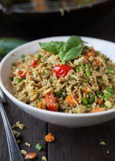 Masala Cauli-Fried Rice (Revised Version) Grain/Gluten Free/Paleo/Primal Serves (depending if it's a side or full meal) (Grain Free, Vegan, SCD, GAPS, Paleo) Ingredients: 3 tablespoons. Vegan Keto Recipes, Whole Food Recipes, Healthy Recipes, Vegan Food, Paleo Meals, Healthy Habits, Healthy Meals, Clean Eating, Healthy Eating
