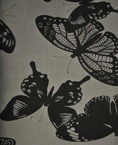 15019 184 Butterflies Charcoal   Robert Kaufman Fabric   Jennifer Sampou   Black and White Collection Wrong Turn, Black And White Fabric, Block Of The Month, Fabric Gifts, Robert Kaufman, Card Kit, Pattern Books, Fabric Design, Butterflies