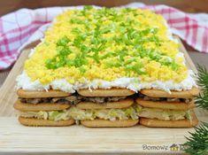 salatka-na-krakersach-z-pieczarkami-i-jajkiem3 Avocado Toast, Good Food, Food And Drink, Salad, Eat, Breakfast, Foods, Mini, Eten