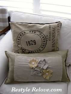 Restyle Relove: DIY Cute Cushion Cover