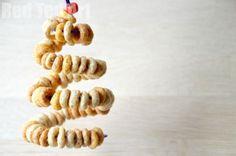 **Christmas Tree** Cheerio Bird Feeders
