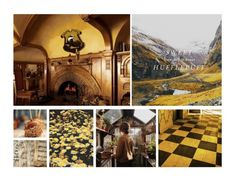 """baked goods & candlelight evenings // hufflepuff common room"" by gracefulwasteland ❤ liked on Polyvore featuring art"