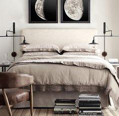 Kolejna z serii sypialni neutralnych. Podobają nam się i tyle :) Tym razem z książkami w ramach dekoracji i elementami industrialnymi. Mrrrr.
