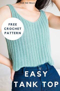 Débardeurs Au Crochet, Mode Crochet, Crochet Woman, Crochet Blouse, Easy Crochet, Tutorial Crochet, Crochet Summer, Crochet Tank Tops, Crochet Vests