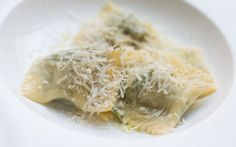 Delicate spinach and ricotta tortelli parcels.