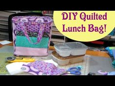 DIY Quilted Reversible Lunch Cooler bag! Today I am making a lunch bag to fit my EasyLunchboxes: http://www.easylunchboxes.com/products/food_containers/index...