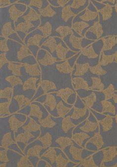 GINKGO, Slate Blue, T721, Collection Artisan from Thibaut