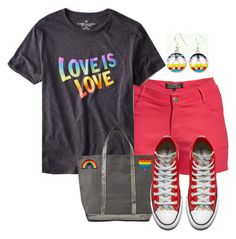 """""""Celebrate Pride Month!"""" by tlb0318 ❤ liked on Polyvore featuring 1826 JEANS, American Eagle Outfitters and Vanessa Bruno"""