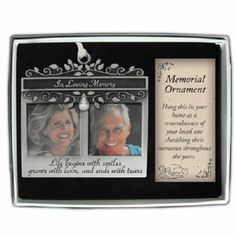 Amazon.com - Cathedral Art CO739 In Loving Memory Double Photo Frame Memorial Ornament, 2-1/8 by 1-3/4-Inch - Picture Frames