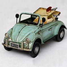 Handmade Antique Tin Model Car-Beetle Cabrio