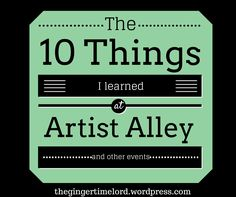 What I've learned at Artist Alley! #convention #comiccon #artistalley
