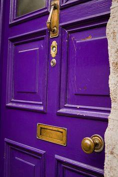 purple door in Cahersiveen
