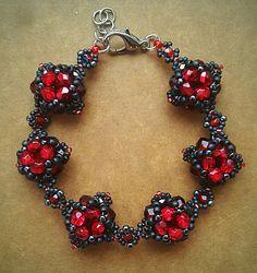 biżuteria soutache, haft koralikowy, torby z filcu: Bransoletka III