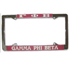 Gamma Phi Beta Sorority License Plate Frame $14.95